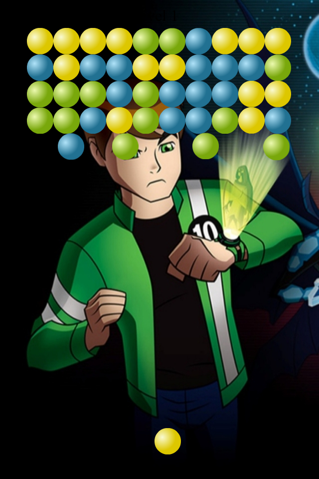 Screenshot Bubble Shooter Ben 10 Edition